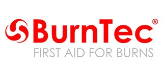 Logo BURNTEC  first aid for burns KRZYWE.cdr